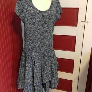Ralph Lauren Blue Paisley Layers Dress XL